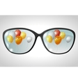 Balloons Glasses Reflection vector image vector image