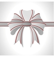abstract white bow vector image