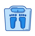 bathroom scale line icon vector image