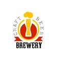 Craft Beer Brewery Logo Design Template vector image