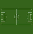 green field with soccer games strategy football vector image