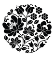 Kalocsai black embroidery - Hungarian pattern vector image