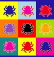spider sign pop-art style vector image