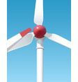 wind-powered generation serves to the people vector image