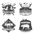 Into The Wild Emblem Set vector image vector image
