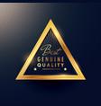 best genuine quality beautiful golden badge label vector image
