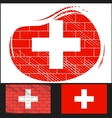 Scratched flag of Switzerland vector image vector image