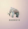 3d origami low polygon elephant vector image