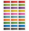 end ribbons vector image