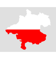 Map and flag of Upper Austria vector image