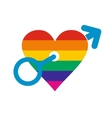 Homosexual love male flat icon vector image