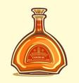 bottle of cognac vector image