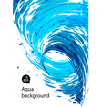 Flowing water abstract blue background vector image