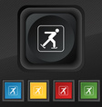 Ice skating icon symbol Set of five colorful vector image
