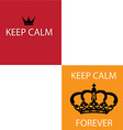 Keep calm design elements vector image