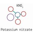 KNO3 Potassium nitrate molecule vector image