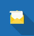 open envelope and message vector image