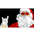 santa claus on black background vector image
