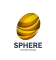sphere abstract logo template vector image