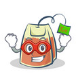 Super hero tea bag character cartoon vector image