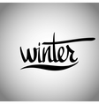 Winter hand lettering - handmade calligraphy vector image