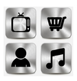 Web icons on metallic buttons set vol 8 vector image