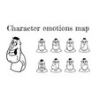 map of emotions vector image
