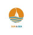 ocean logo design vector image