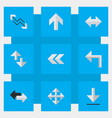 set of simple arrows icons elements back loading vector image