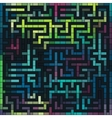 Colorful grunge labyrinth vector image