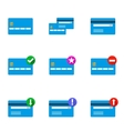 Set of credit cards vector image
