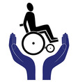 disabled invalid care sign protection sign vector image vector image