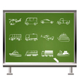 chalk travel and transportation vector image vector image