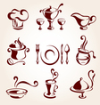 restaurant elements set vector image vector image