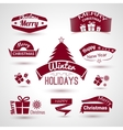 Christmas and new year set of trendy icons vector image