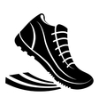 running shoes design sport concept vector image