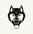 Wild wolf face vector image