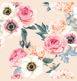 seamless wedding flowers vector image