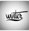 Winter hand lettering - handmade calligraphy vector image