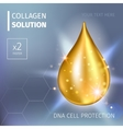 Supreme collagen oil drop essence Premium shining vector image