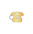 old telephone computer symbol vector image