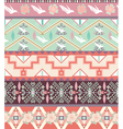 Seamless pastel aztec pattern with birds and roses vector image vector image
