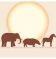 Savanna card with african animals vector image