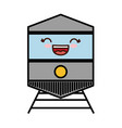 train vehicle icon vector image