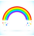 Bright isolated rainbows with color drops vector image