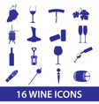 wine icon set eps10 vector image