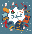 Holiday garage sale vector image