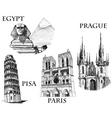 landmarks sketch vector image