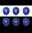 Conceptual dice set vector image
