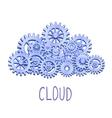 Mechanical gears cloud vector image vector image